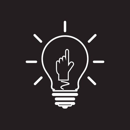 Idea lamp Icon Illustration