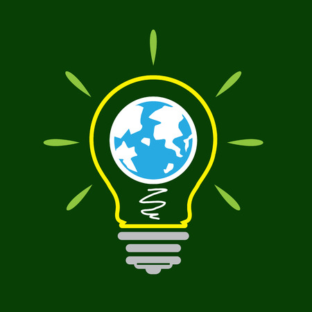 Idea lamp Icon , world