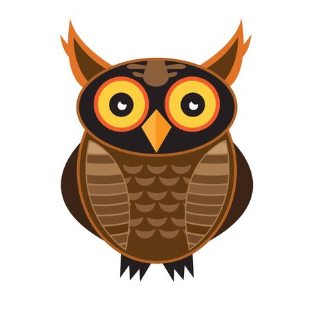 owl vector,Owls of different colors