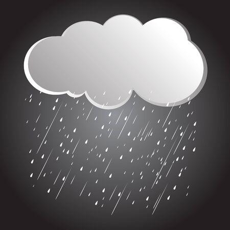 cartoon cloud: background rain clouds, storm Illustration