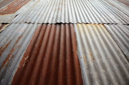 Old rusty galvanized iron roof