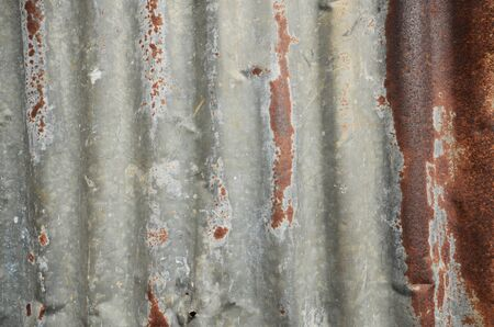 Rusty Galvanized Steel Stock Photo
