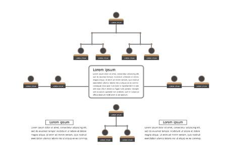 Infografía de organigrama