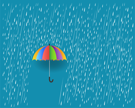 rain and umbrella vector