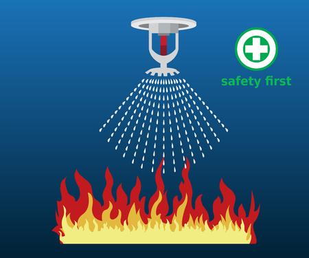 gicleurs d'incendie, sécurité, icône du design vectoriel