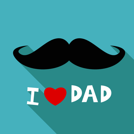 Happy Fathers Day,  i love dad,  paper art style Illustration