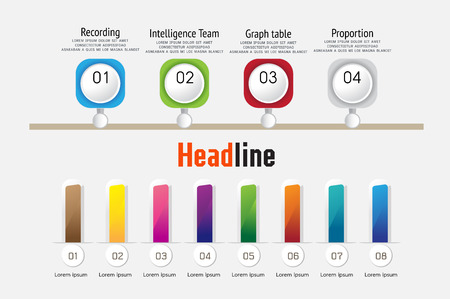 business timeline , organization ,road map infographic, Design template,  Vector Illustration