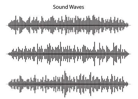 sound waves, vctor design Ilustração