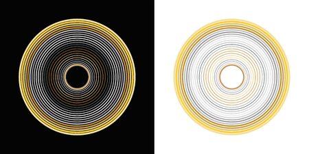 sound waves,circle effect vector Ilustração