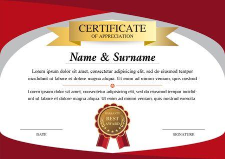certificate template, warranty