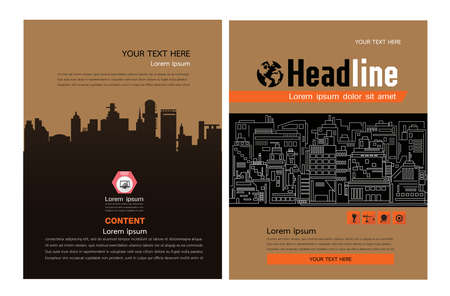 Abstract vector modern flyers brochure, construction brochure layout Vectores