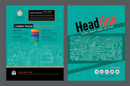 Brochure template design. Concept of architecture design. construction brochure layout,, layout in A4 size Vectores