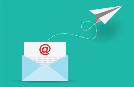 Mail sent and  Email marketing concept, vector design Vectores