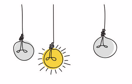 Light bulb idea concept , line drawing style,vector design