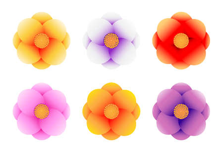 flowers vector set on white background, vector design. Vectores