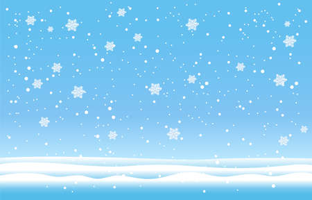 Snowflakes and Winter background, Winter landscape, vector design. Vectores