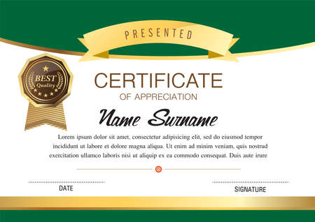 certificate template, diploma design,  graphic background, warranty vector design. Vectores