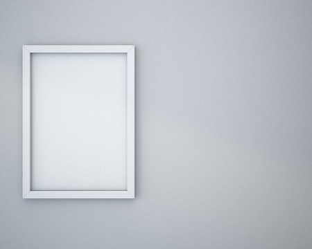 Blank frame on light gray wall.