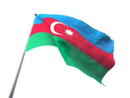 flying flag: Azerbaijan flying flag isolate on white background.