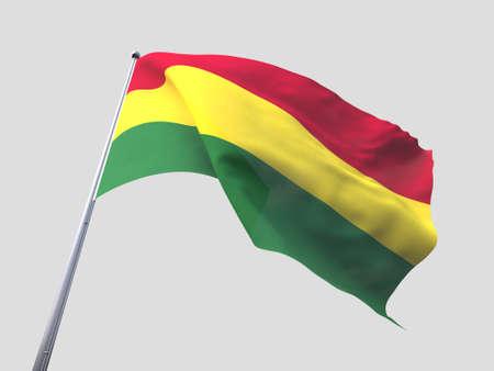 flying flag: Bolivia flying flag isolate on white background.