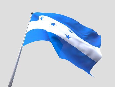 flying flag: Honduras flying flag isolate on white background.