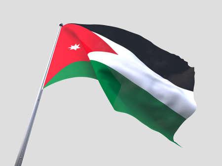 jordan: Jordan flying flag isolate on white background. Stock Photo