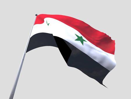 flying flag: Syria flying flag isolate on white background