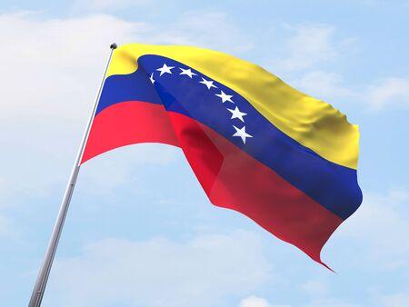 bandera de venezuela: Bandera de Venezuela que vuelan en el cielo claro. Foto de archivo