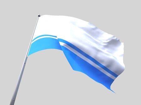 altai: Altai Republic flying flag isolate on white background.