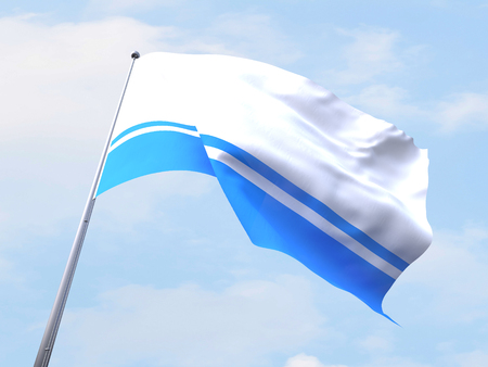 altai: Altai Republic flag flying on clear sky.