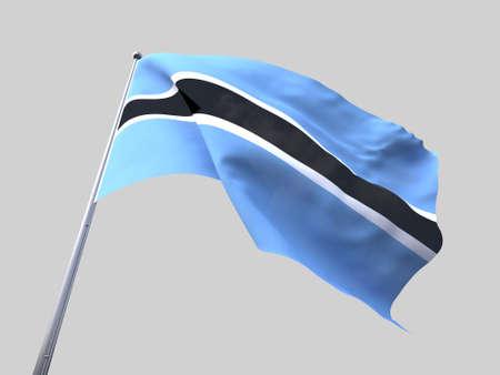 botswana: Botswana flying flag isolate on white background. Stock Photo