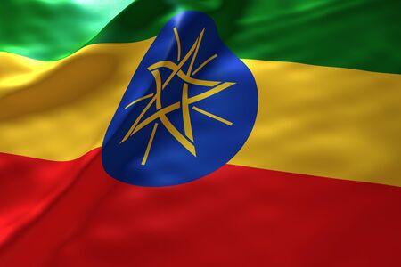 ethiopia flag: Ethiopia flag background Stock Photo