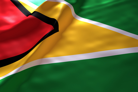 guyana: Guyana flag background Stock Photo