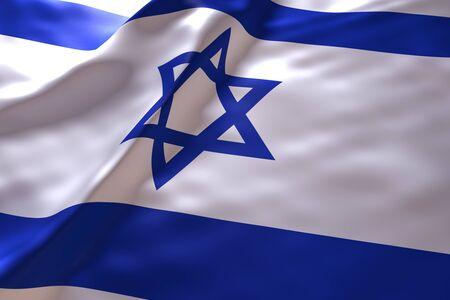 Israel flag background 免版税图像