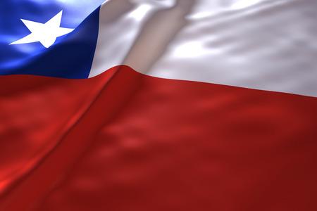chile: Chile flag background Stock Photo