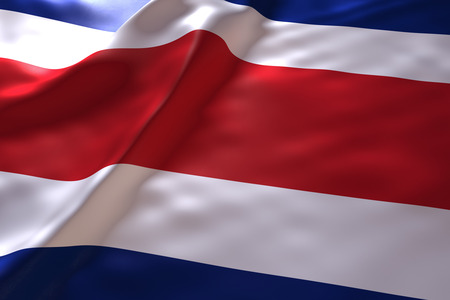 Costa Rica flag background Stock Photo