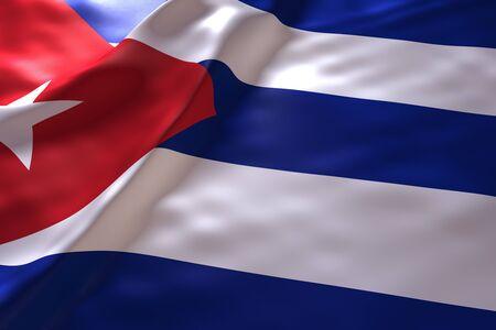 bandera cuba: Cuba fondo de la bandera Foto de archivo