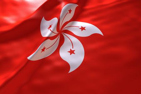 Hongkong flag background Imagens - 46010924