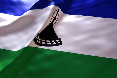 LESOTHO: Lesotho flag background