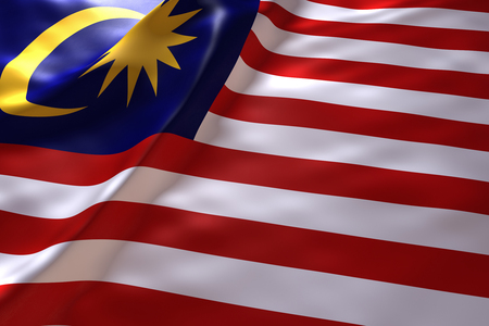 Malaysia flag background 免版税图像 - 46010950