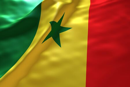 senegal: Senegal flag background