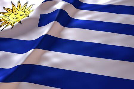 bandera de uruguay: Uruguay fondo de la bandera Foto de archivo