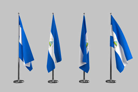 an ally: Nicaragua indoor flags isolate on grey background