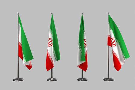 iran: Iran indoor flags isolate on grey background