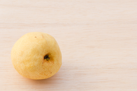 asian pear: Asian pear on wood background