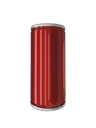 drink can: Red Aluminum Drink Can isolated with clipping path