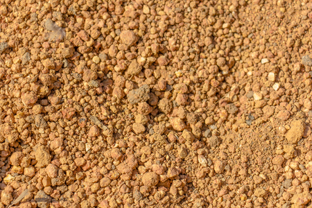 soil texture: picture of red orange soil texture Stock Photo