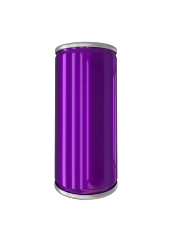 drink can: Purple Aluminum Drink Can isolated with clipping path