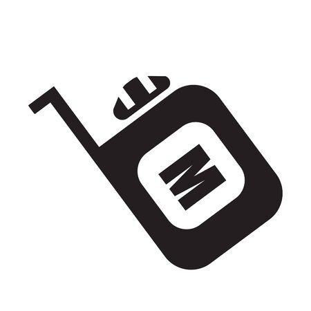 tester: meter flat icon Illustration