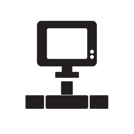 computer network: computer network flat icon